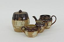 A Royal Doulton stoneware miniature three-piece
