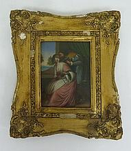 19th Century Spanish School/Lady Playing the