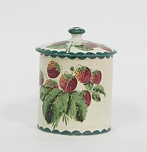 A Wemyss pottery jar and cover, painted
