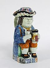 A Yorkshire Pratt-type Toby jug circa 1810 of
