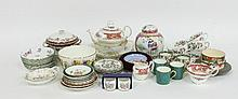 Sundry decorative ceramics, tea wares etc