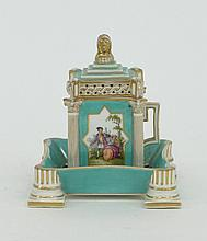 A German cup, cover and saucer of square section
