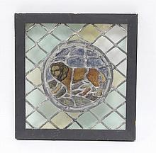 A small stained glass window, possibly part 17th