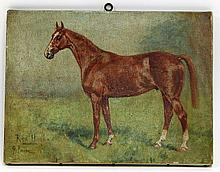 George Paice/Red Hugh/a chestnut horse/signed and