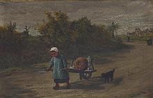 Henry Robert Robertson/Child with Hand Cart and