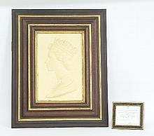 A Royal Worcester portrait plaque depicting