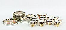 A Royal Crown Derby cigar pattern tea set, pattern