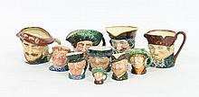 Ten Royal Doulton character jugs, various