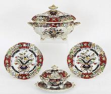A Masons Ironstone part dinner service, circa
