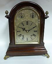A George III style mantel clock by Aldred and Son,