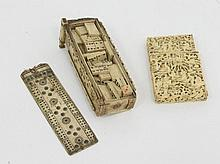 A 19th Century carved ivory visiting card case,