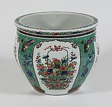 A Samson of Paris fish bowl, in the Chinese
