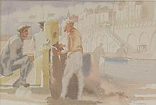 ThÚrÞse Lessore/Brighton Beach/signed/watercolour,