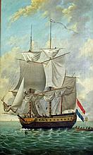 Manner of van der Velde/Square Rigged Man of War