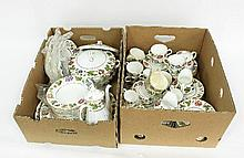 A Royal Worcester Virginia pattern part tea and