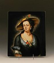 A Marvelous Large KPM Porcelain Plaque, A. Bock