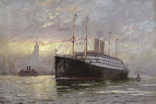 The  S.S. Kaiser Wilhelm II  in New York harbor