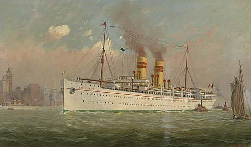 The  S.S. San Giorgio  in New York harbor