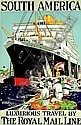 SOUTH AMERICA, THE ROYAL MAIL LINE, Kenneth Denton Shoesmith, Click for value