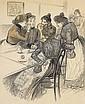 Au Café (Pour Gil Blas , le 29 décembre 1899, no. 52), Theophile Alexandre Steinlen, Click for value