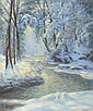 Snowy Landscape with Brook, Walter Launt Palmer, Click for value
