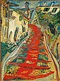 L'escalier rouge à Cagnes, Chaim Soutine, Click for value
