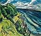 Küstenlandschaft (Förde gegen Westen), Erich Heckel, Click for value