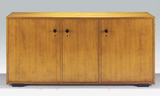 An oak sideboard