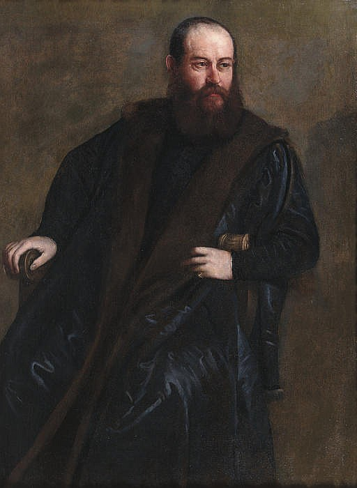 Portrait of a gentleman, seated three-quarter length