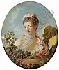 Young Woman with a Garland of Roses (said to be Adeline Colombe)
