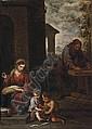 The Holy Family with the Infant Saint John the Baptist, Bartolome Esteban Murillo, Click for value
