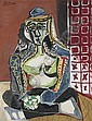 Femme accroupie au costume turc (Jacqueline), Pablo Picasso, Click for value