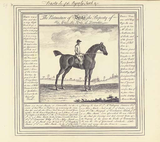 SPENCER, Thomas (1700-1763) and others. [<I>34 Portraits of Race Horses with their Pedigrees</I>