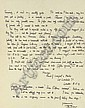 LAWRENCE, T.E. Two autograph letters signed (