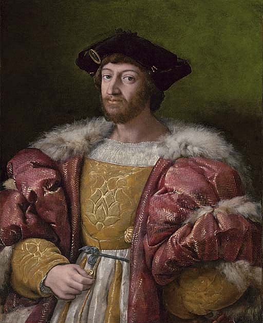 Portrait of Lorenzo de' Medici, Duke of Urbino (1492-1519), three-quarter-length, holding a gold box