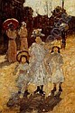 MAURICE BRAZIL PRENDERGAST (1861-1924)Sunday Morning in Parissigned