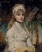 Portrait of Charlotte Keppel (1771-1852), half-length, in a white dress, John Hoppner, Click for value