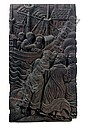 A CARVED OAK RELIEF OF FIGURES ON THE SHORE AND A SHIP AT SEA, Tilman Riemenschneider, Click for value