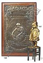 A French bronze of a little girl standing on a chair, Juan  Clara, Click for value