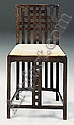 An Ebonised Sycamore Side Chair, Charles Rennie Mackintosh, Click for value