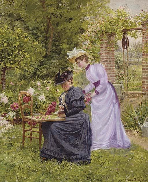 Dans le jardin