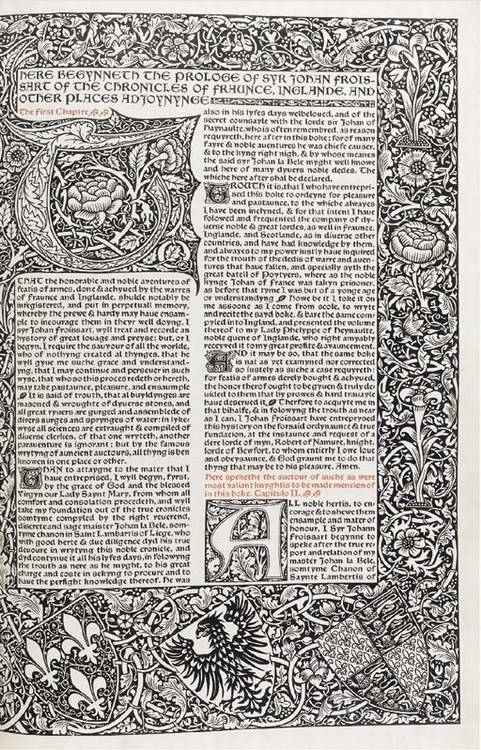 MORRIS, William and the KELMSCOTT PRESS. <I>Two trial pages of the projected edition of Lord