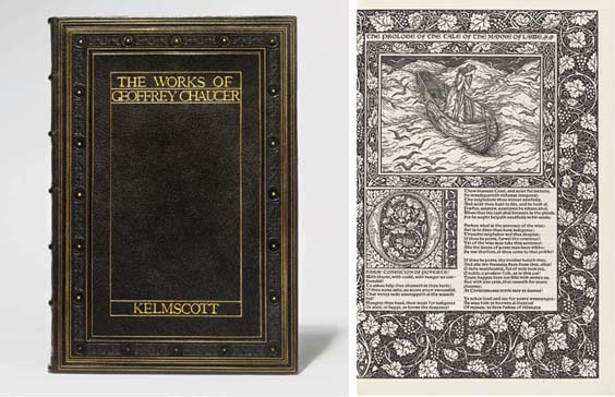 MORRIS, William (1834-1896) and the KELMSCOTT PRESS -- Geoffrey CHAUCER (?1340-1400). <I>The