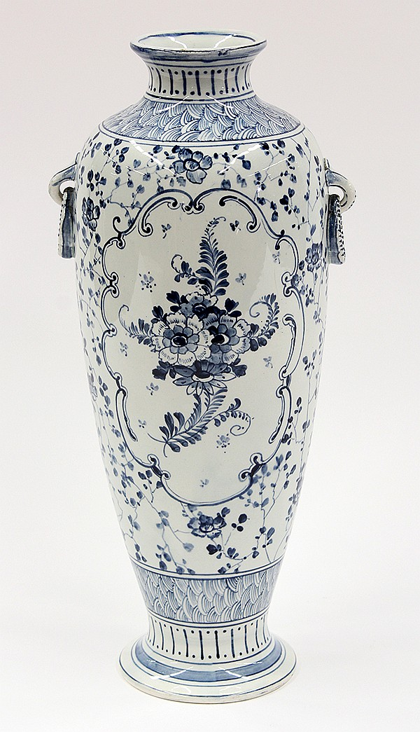Delft decorated vase