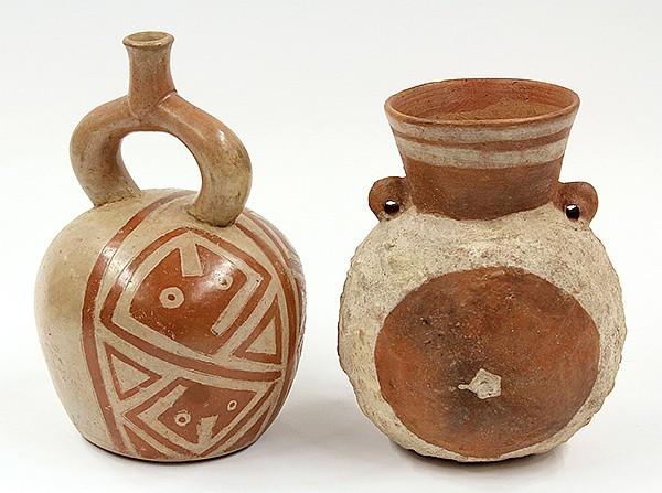 Pre-Columbian, Peruvian vessels
