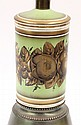 Continental style paint decorated table lamp
