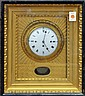 French cased gilt wall clock