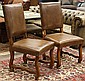 Pair of Provincial style side chairs