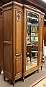 Continental Art Deco armoire