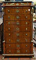 Continental style gilt bronze mounted tall chest of drawers